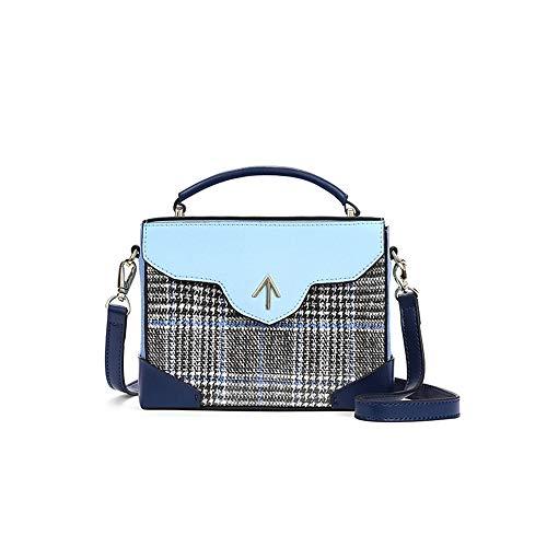 Jiudou Tasche weibliche Pfeil Handtaschen kleine einfache Handtaschen Kontrastfarbe einzelne Schulter kleine quadratische Tasche geschlunge - Mikrofaser-schulter-handtasche