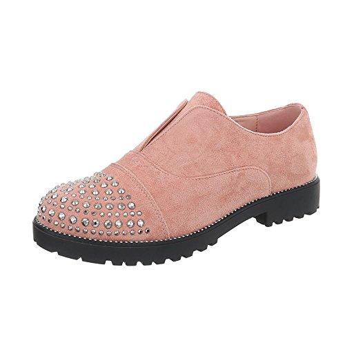 Chaussures Pour Femmes Block Toe Talon Slipper Ital-design Rose 22-2