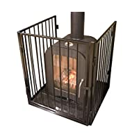 182 cm Fire Guard 3 Panel Step-Through Safety Fireplace Pet Metal Screen Black