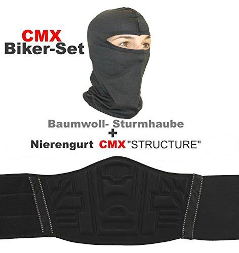CMX STRUCTURE Nierengurt Nierenwärmer + Sturmhaube Maske -