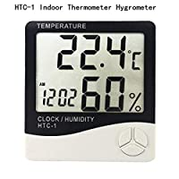 NO LOGO TONGBOSHI LCD Digital Temperature Humidity Meter Home Indoor Outdoor hygrometer thermometer Weather Station with Clock