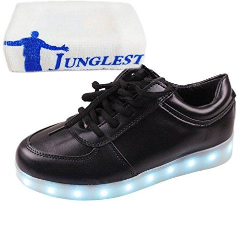 [Present:kleines Handtuch]JUNGLEST® Schwarz Schädel 7 Farbe Unisex LED-Beleuchtung Blink c34