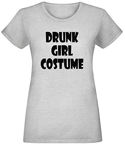 Jersey Girl Kostüm - Betrunkenes Mädchen Kostüm - Drunk Girl Costume T-Shirt Top Short Sleeve Jersey for Women 100% Soft Cotton Womens Clothing XX-Large