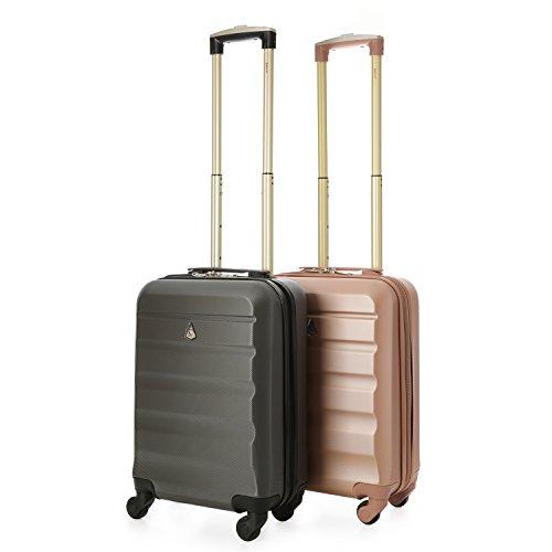 Aerolite Leichtgewicht ABS Hartschale 4 Rollen Handgepäck Trolley Koffer Bordgepäck Kabinentrolley Reisekoffer Gepäck, Genehmigt für Ryanair , Easyjet ,...