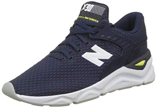 New Balance Herren X-90 Sneaker, Blau (Pigment/Limeade Nv), 41.5 EU -
