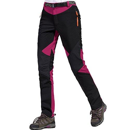 Sidiou group pantaloni da trekking pantaloni softshell donna pantaloni da arrampicata pantaloni da escursionismo fleece pantaloni impermeabile pantaloni da campeggio (m 30