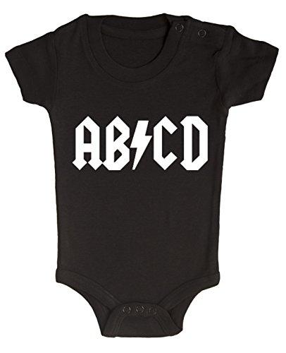 BODY tutina pagliaccetto bimbo neonato AB/CD AC/DC Rock 6 mesi