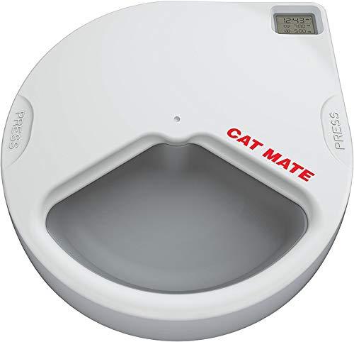 Cat Mate C300 Automatischer Futterspender für 3 Mahlzeiten, mit digitalem Timer für Katzen und Kleine Hunde