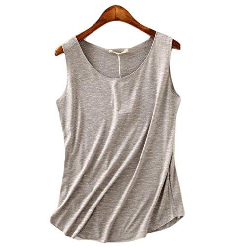Leisial - Sweat-shirt spécial grossesse - Femme gris clair