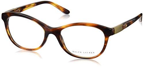Ralph Lauren - RL 6157Q, Schmetterling, Acetat, Damenbrillen, STRIPED BROWN(5007), 53/18/140