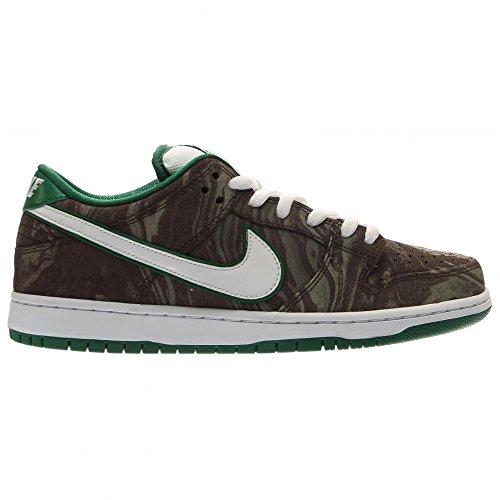 Nike Dunk Low Premium Sb Skate-Schuh KHAKI/WHITE-PINE GREEN-BAROQUE BROWN