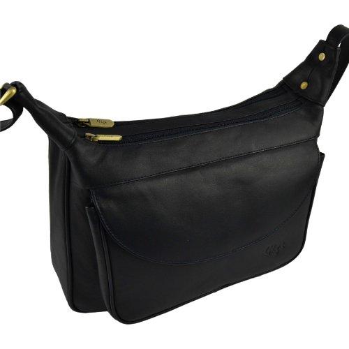 Donna in Pelle Croce corpo borsa da GiGi OTHELLO Collezione Alla moda Classico Forma Black