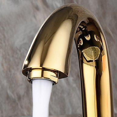CU@EY Contemporary/modern wide bathtub faucet with a ceramic valve handle three titanium PVD,c