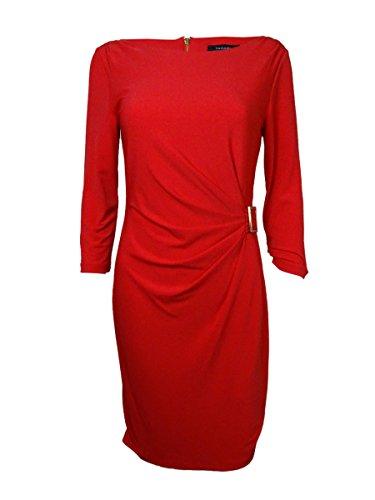 Tahari Women's Lilian Gathered Detailed Jersey Dress