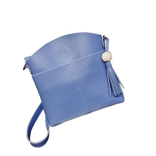 0646352441008 Igemy Tassel Frauen Tasche Leder Handtaschen Kreuz Körper Schultertaschen  Messenger Handtasche Blue
