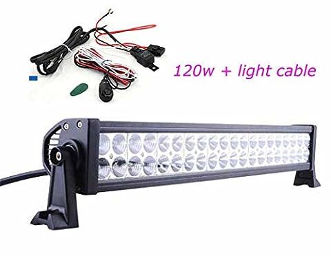 "24""120W LED Arbeitsscheinwerfer Scheinwerfer Flutlicht Offroad 12V 24V für SUV LED Light Bar for Auto ATV UTE Ford Jeep Boat Deck Lamp"