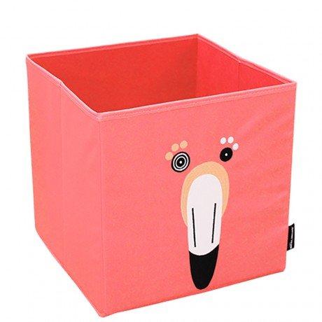 Les Deglingos caja de almacenaje Flamingos el flamenco