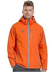 HHORD Al aire libre ultraligero impermeable y transpirable par de una sola capa con capucha de las chaquetas de los hombres del collar del soporte Senderismo chaquetas primavera y el otoño , xs