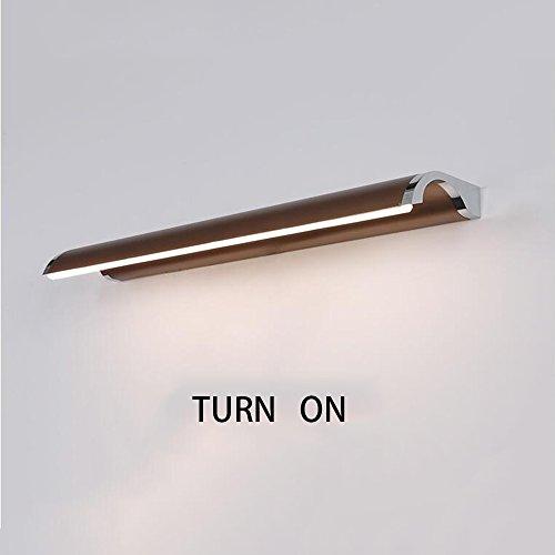 YANZHEN-Lámparas para el espejo del cuarto de baño LED impermeabilizan los faros del espejo del Anti-niebla La lámpara de pared minimalista moderna del cuarto de baño del espejo del cuarto de baño (43 * 4cm-8W, 53 * 4CM-10W, 63 * 4CM-12W) Baño Luz Espejo ( Tamaño : 63*4CM-12W )
