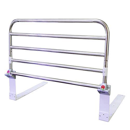 Laufstall Faltbare ältere Bett-Schienen-Schutz-Sicherheitsseite, Tragbare Krankenhaus-Metallgriff-Stoßstange, Erwachsene unterstützen Griff-Handikap-Bett-Geländer (größe : 90cm) -