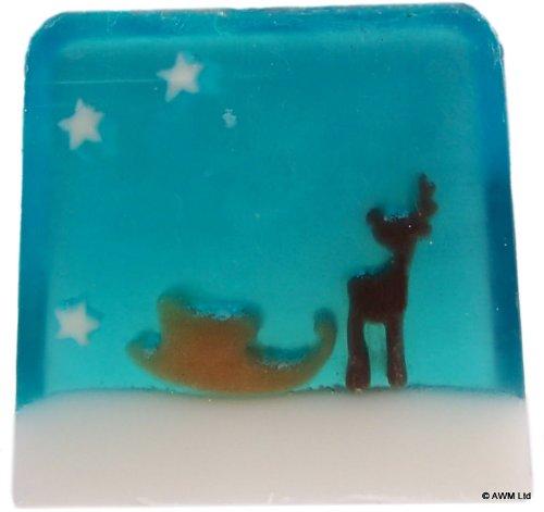 Rentieren &Schlitten, Seife, Duft: 115 g Slice. Applejack. ein perfektes Geschenk; ideal für Geburtstage, Christmas......