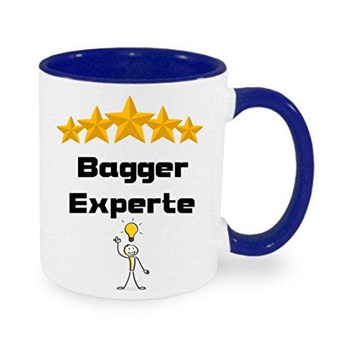 Bagger Experte - Kaffeetasse mit Motiv, bedruckte Tasse mit Sprüchen oder Bildern