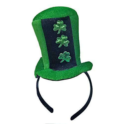 VJGOAL St. Patrick's Day Hut, Damen Herren Unisex Party Performer Grün Vierblättriges Kleeblatt Kopf Schnalle Zubehör Familie Freund ()