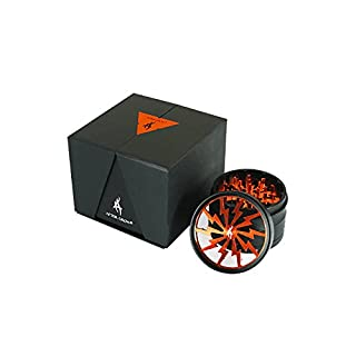 Grinder für Tabak Thorinder in Aluminium orange 4 Teile tritatabacco 62 mm