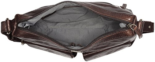 Spikes & Sparrow - Pouch, Borse a tracolla Donna Marrone (Dark Brown)