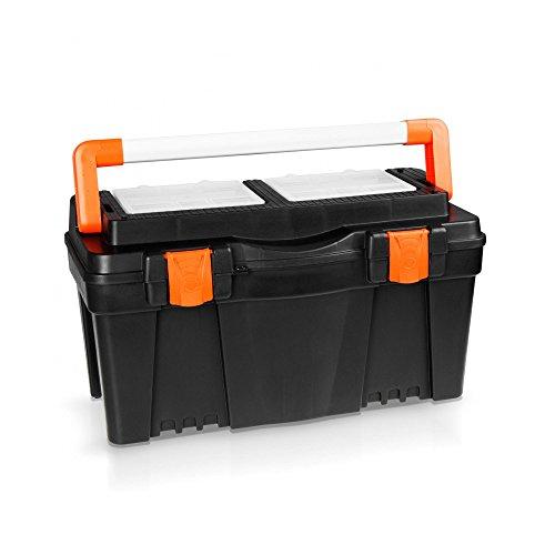 Kunststoff Werkzeugkoffer 60 cm mit Alugriff - ORANGE LINE -