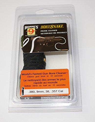Hoppes Boresnake für Pistole Revolver Flinte und Langwaffen Bore Snake Laufreiniger ( Wählen Sie Ihre Caliber ) für .17, .177, .22, .218, .219 .220, .221, .222, .223, .224, .225, .226, .30, .308, .30-06, .32, .38, .380, .357, .35, 9mm, .41, .44, .45, .12, .16, .20 uvm. Direktversand aus Deutschland von ETU24 (Kal. .380, 9mm, .38, .357) (Sig Softair Gewehr)