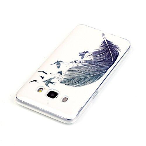 ANNN® Samsung Galaxy J510 J5(2016) Coque PU Cuir Flip Housse Étui Cover Case(Retro nationale Fleur)Portefeuille Supporter avec Fonction Stand et Fentes de Carte de Crédit + Quill stylet + Pendentif po B03