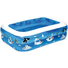 Wehncke 12450 My first pool - 4in1 piscina hinchable para niños, 143x106x36cm