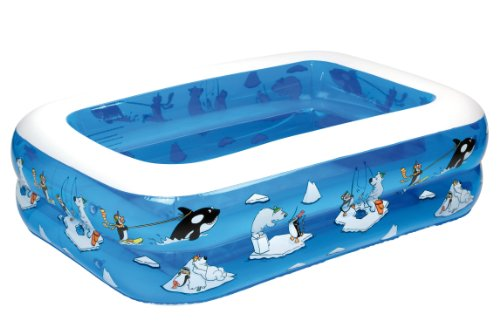 Fridola Wehncke 12450 My first pool - 4in1 piscina hinchable para niños, 143x106x36cm