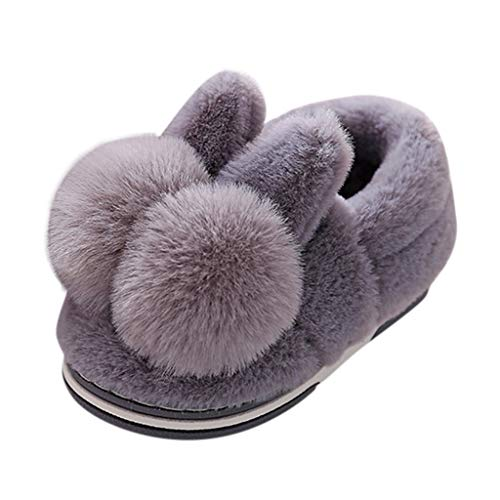 TEELONG Ladies Bootie Womens Soft Cartoon Rabbit Slippers Boots Solid Winter Warm Indoor Outdoor Slippers Casual Shoes Cute Boots for Girls Size 3.5-7.5 UK