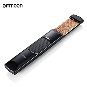 ammoon Portable Pocket Acoustic Guitar Practice Tool Guitar PartsGadget Chord Trainer 6 String 6 Fret Model for Beginner