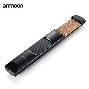 ammoon Poche Portable Guitare acoustique pratique outil Gadget Chord formateur 6 cordes 6 frettes Modèle pour Débutant