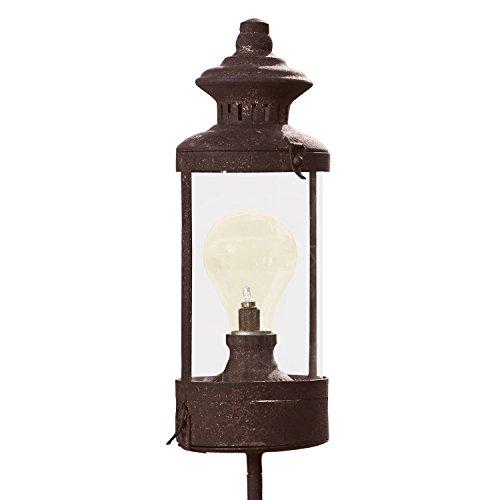 Loberon Laterne Milou, Eisen/Glaszylinder, H/Ø ca. 110/10 cm, braun