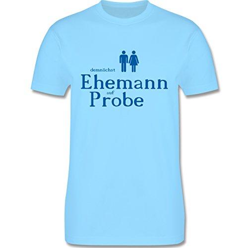 JGA Junggesellenabschied - Ehemann auf Probe - Herren Premium T-Shirt Hellblau