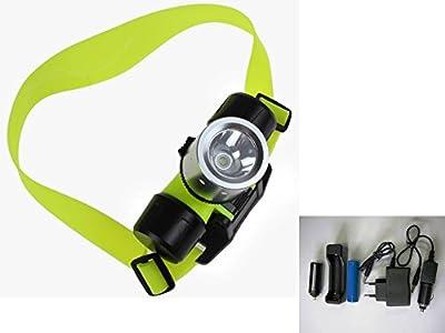 Linterna Cabeza Frontal LED, Sumergible e Impermeable, Batería Recargable con cargador 220v y cargador de coche, Acuática ideal Buceo, Ciclismo, Pesca, Acampada, Camping, Etc.