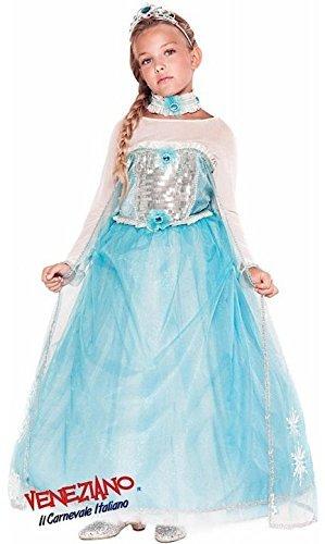 e Herstellung Mädchen DELUXE EISKÖNIGIN Perücke Prinzessin büchertag Woche Karneval Halloween Kostüm Kleid Outfit 3-10 Jahre - 3 years (Deluxe Prinzessin Kind Kostüme)