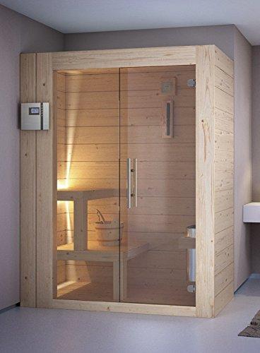 grandform Sauna Finnische Sauna elektrische Raumheizung 6Sitzer sitzen, 2Liegen + 1sitzend. Home 2525(cm. 250x 250x 208H.)