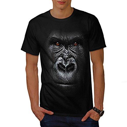 gorille-animal-gros-singe-visage-singe-homme-nouveau-noir-xxl-t-shirt-wellcoda