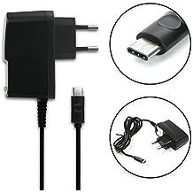 subtel® Cargador - (2A) para Elephone M3 Lite / M3 Pro / P9000 - USB-C (2A) (5V / ) Cable de carga negro