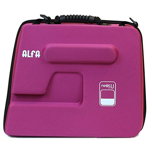 Alfa Next TO U - Funda semirrígida para máquina de Coser, Color Morado