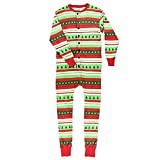 Hzjundasi Flapjacks Onesie Weihnachten Familie Matching Pyjama - Erwachsene Kinder und Säugling PJs Xmas Feiertag Schlafanzüge Einteilig Nachtwäsche