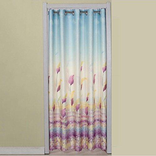 Liuyu · Lebendes Haus Tür Vorhang Stoff Vorhang abgeschnitten Doppelseitige Verdickung Haushalt Küche Schlafzimmer Erker ( Farbe : Lila , größe : 180*200cm )