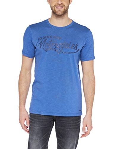 Colorado Denim Herren T-Shirt Lenni Blau (Indigo Blue 6079 )