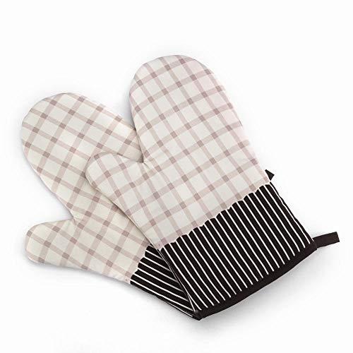 CLLCR Gants pour Four À Micro-Ondes Haute Température/Outils De Cuisson Anti-Brûlants/Gants Isolants Thermiques,Chamois,1