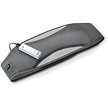 Beurer HK67 - Cinturón lumbar portátil con cierre autoadherente, batería externa, color gris